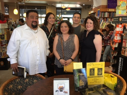 Liza Trevino (center) with All That Glitters book signing guests